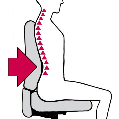 Bürostuhl LadyFlex Lordosenstütze in der Rückenlehne