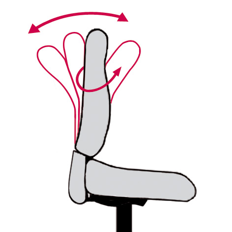 Flexible Frauenrückenlehne beim Bürostuhl Lady Relax
