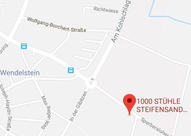 Google Anfahrt zur 1000 Stühle Steifensand Sitwell AG