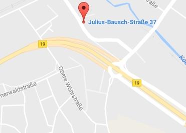Google Anfahrt zu Bürostuhl Aalen
