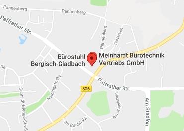 Google Anfahrt zu Bürostuhl-Bergisch-Gladbach