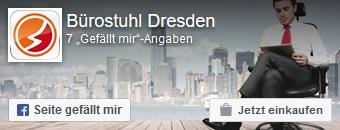 Zur Facebookseite von Buerostuhl-Dresden.com