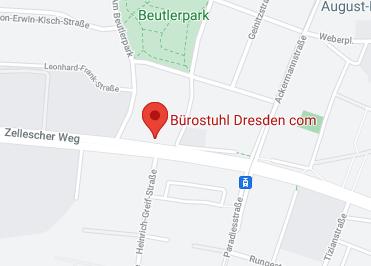 Google Anfahrt zu Bürostuhl-Dresden.com