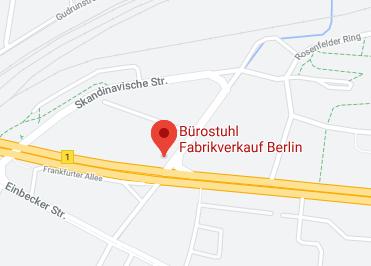 Google Anfahrt zu Bürostuhl Fabrikverkauf Berlin