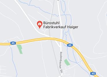 Google Anfahrt zu Bürostuhl Fabrikverkauf Haiger