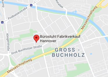 Google Anfahrt zu Bürostuhl Fabrikverkauf Hannover