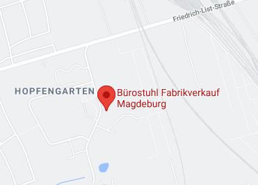 Google Anfahrt zu Buerostuhl Fabrikverkauf Magdeurg