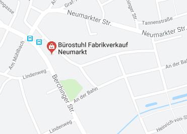 Google Anfahrt zu Buerostuhl-Fabrikverkauf-Neumarkt