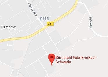 Google Anfahrt zu Buerostuhl Fabrikverkauf Schwerin