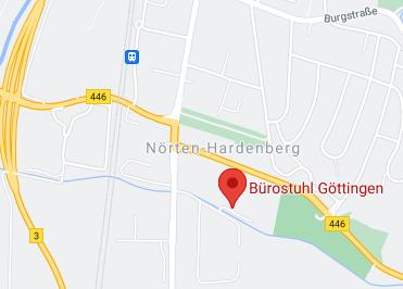 Google Anfahrt zu Bürostuhl Göttingen