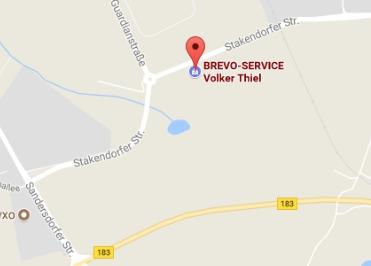 Google Anfahrt zu Bürostuhl Fabrikverkauf Bitterfeld Koethen