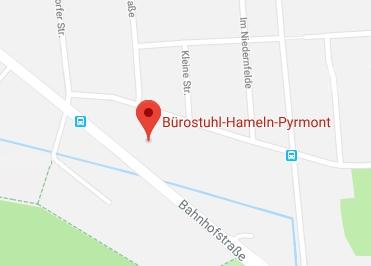 Google Anfahrt zu Bürostuhl-Hameln-Pyrmont