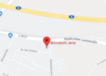 Google Anfahrt zu Buerostuhl Jena