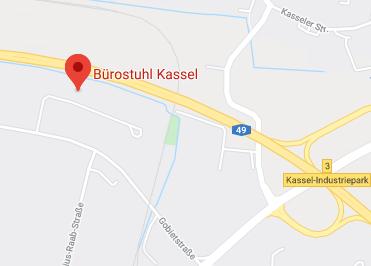 Google Anfahrt zu Bürostuhl Kassel