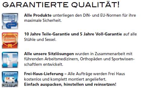 Garantierte Qualitaet bei Buerostuhl-Kaufen.de