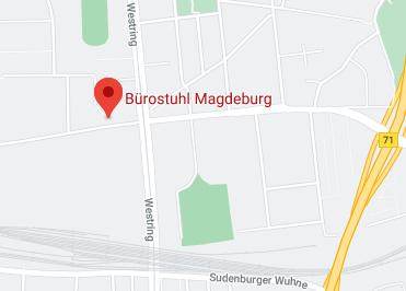 Google Anfahrt zu Bürostuhl Magdeburg