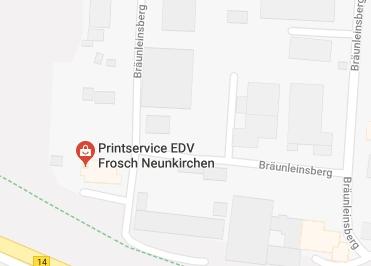 Google Anfahrt zu Bürostuhl Nürnbergerland