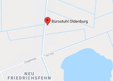 Google Anfahrt zu Bürostuhl-Oldenburg