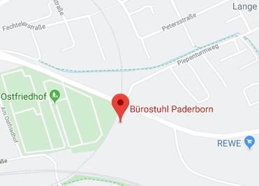 Google Anfahrt zu Bürostuhl-Paderborn
