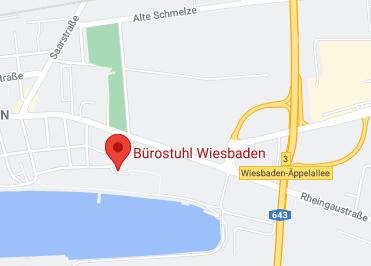 Google Anfahrt zu Bürostuhl-Wiesbaden