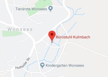 Google Anfahrt zu Buerostuhl Kulmbach