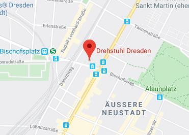 Google Anfahrt zu Drehstuhl-Dresden