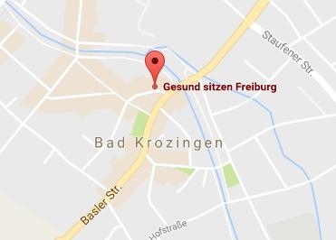 Google Anfahrt zu Gesund-Sitzen-Freiburg